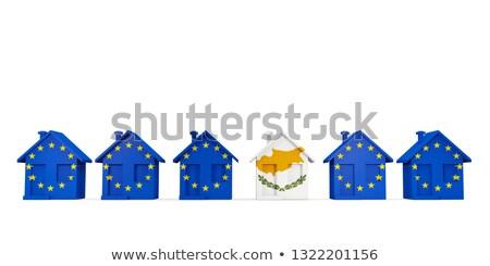 Casa bandera Chipre ue banderas Foto stock © MikhailMishchenko