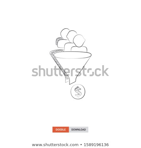 conversion funnel hand drawn outline doodle icon stock photo © rastudio