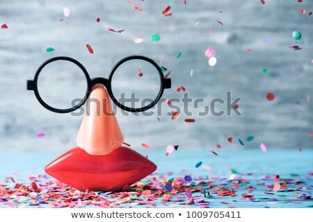 Confete falsificação óculos nariz boca Foto stock © nito