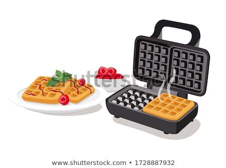 Vector Bélgica gofre desayuno aislado blanco Foto stock © freesoulproduction