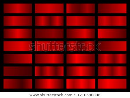 Coleção vermelho metálico gradientes cromo natal Foto stock © olehsvetiukha