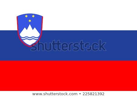 スロベニア フラグ 白 ビッグ セット 背景 ストックフォト © butenkow