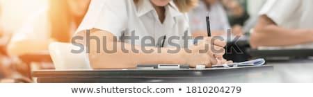 szó · oktatás · földgömb · fehér · érettségi · könyvtár - stock fotó © mazirama