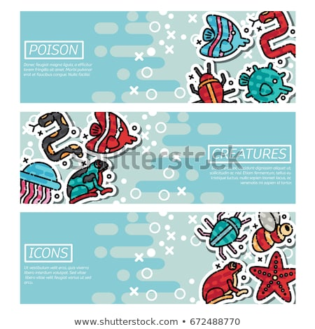 Set of Horizontal Banners about poison creatures Stock photo © netkov1