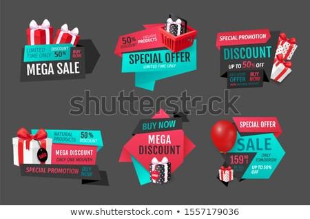 Mega vásár természetes termékek egy hónap Stock fotó © robuart