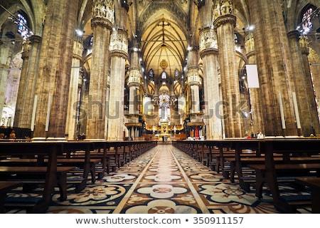 Interior católico iglesia púrpura horizontal Foto stock © amok