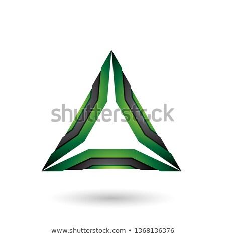 Verde negro mecánico triángulo vector ilustración Foto stock © cidepix