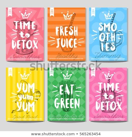 Vector kleur menu ontwerp pagina Stockfoto © netkov1