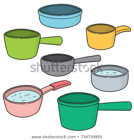Stock photo: vector set of water dipper