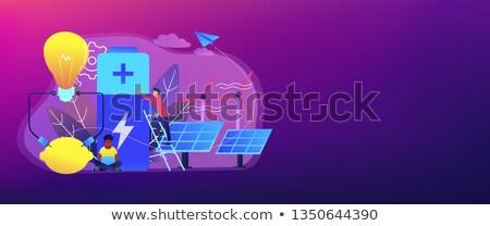革新的な バッテリー 技術 バナー ヘッダ 科学者 ストックフォト © RAStudio