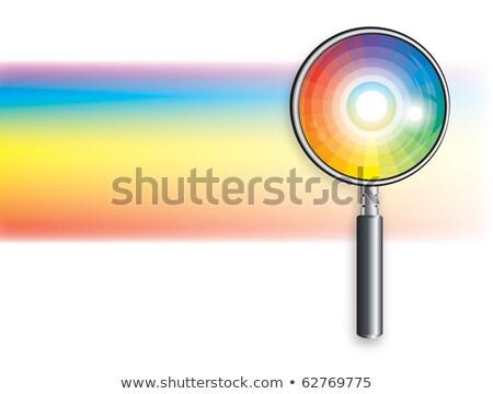 Tęczy lupą analiza narzędzie badań laboratorium Zdjęcia stock © Glasaigh