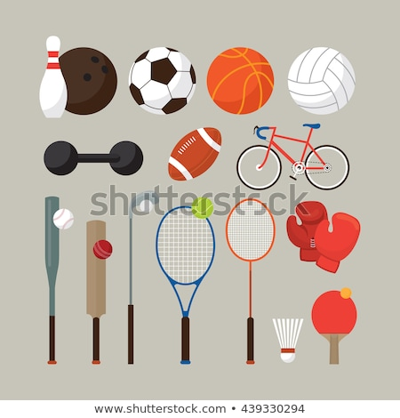 Stock fotó: Sport equipment set