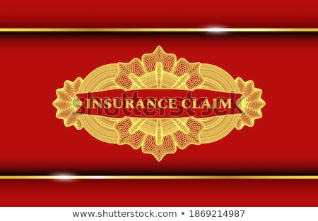 Color vintage accident insurance emblem Foto d'archivio © netkov1