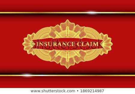 Color vintage accident insurance emblem Photo stock © netkov1
