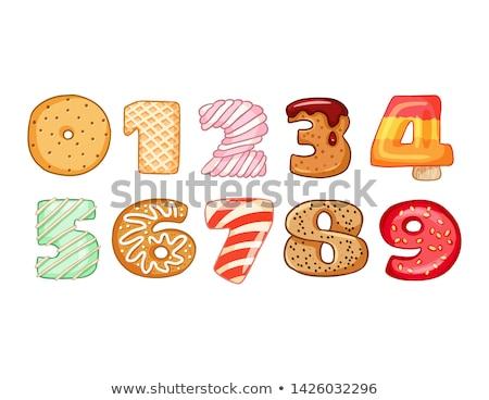vector set of number cartoon stock photo © olllikeballoon