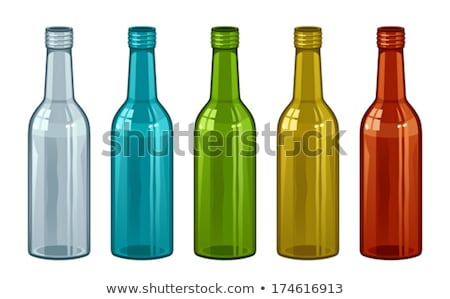 Realistic Bottle And Full Glass Of Red Beer Vector Stock fotó © pikepicture