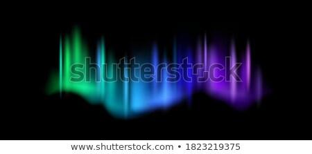 Stockfoto: Realistic Northern Aurora Atmosphere Light Vector