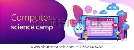 Computer programming camp concept banner header. Stock photo © RAStudio