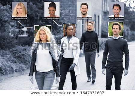People Faces Recognized With Intellectual Learning System Stock photo © AndreyPopov