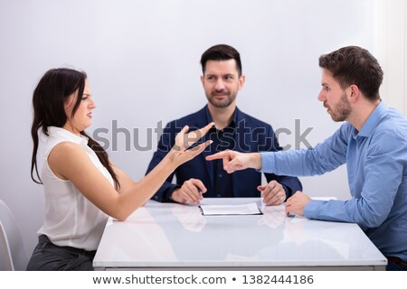 Couple Arguing With Each Other In Front Of Judge Stock photo © AndreyPopov