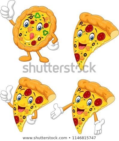 Happy Cheese Cartoon Character Waving. Vector Illustration  Stock photo © hittoon