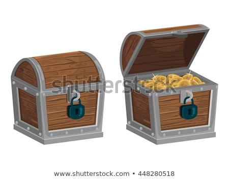 Ahşap kutu para açmak dolar euro Stok fotoğraf © stokato
