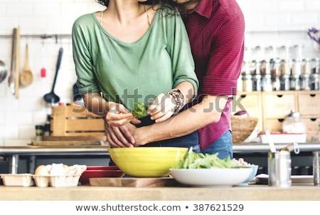 Stockfoto: Couple Cooking Breakfast