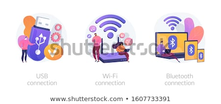 Bluetooth connection concept vector illustration. Stock photo © RAStudio