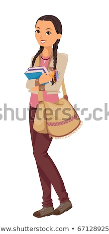 Teen Girl Native American Indian Student Stock photo © lenm