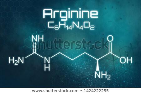 Kimyasal formül fütüristik soyut tıbbi eğitim Stok fotoğraf © Zerbor