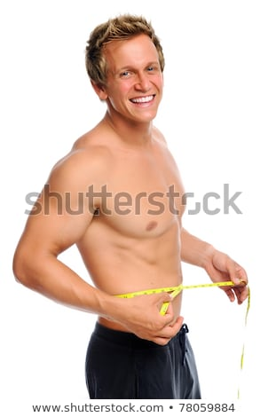 Studio Portrait Of Bare Chested Muscular Young Man Stock photo © monkey_business