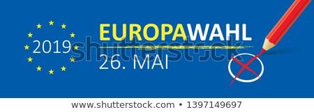 Paper Banner Europawahl 2019 Stock photo © limbi007