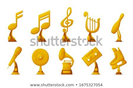 音楽 スポーツ カセット ノート アイコン ストックフォト © robuart