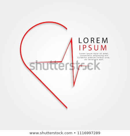 Doctor Protecting Heart Shape With Heart Beat Pulse Stock photo © AndreyPopov