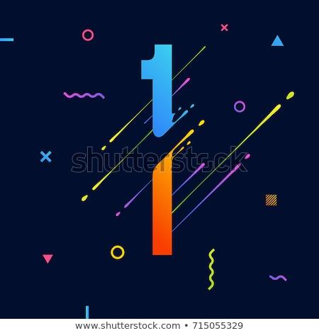 eğim · sıvı · poster · ayarlamak · vektör · serin - stok fotoğraf © ussr