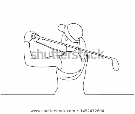 Young golfer woman on the golf course illustration stock photo © tiKkraf69