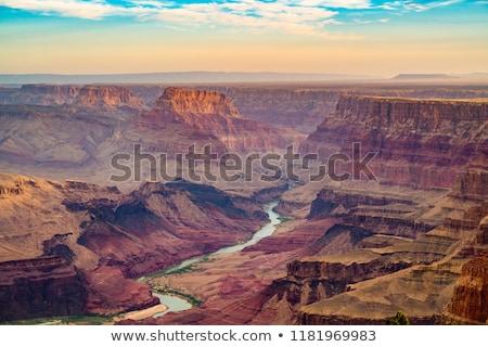 Grand · Canyon · napfelkelte · folyó · Colorado · hegy · kék - stock fotó © vichie81