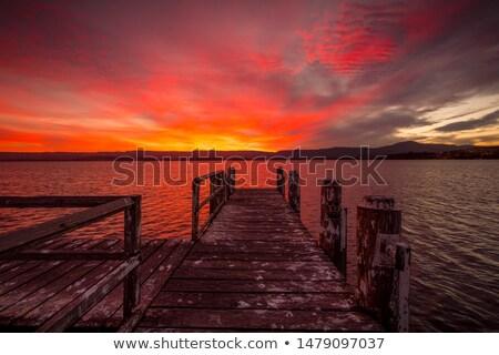 ateşli · kırmızı · gün · batımı · bulutlar · canlı · gökyüzü - stok fotoğraf © lovleah