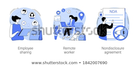 nondisclosure agreement concept vector illustration stock photo © rastudio