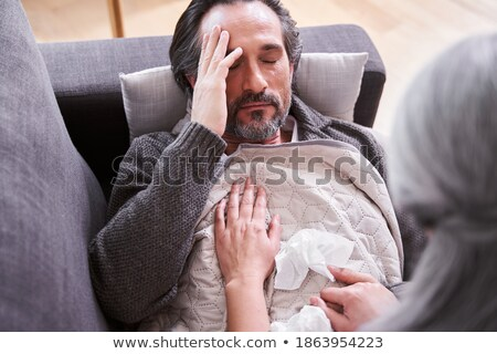 Mature Woman Holding Her Husband's Nose Stock photo © AndreyPopov