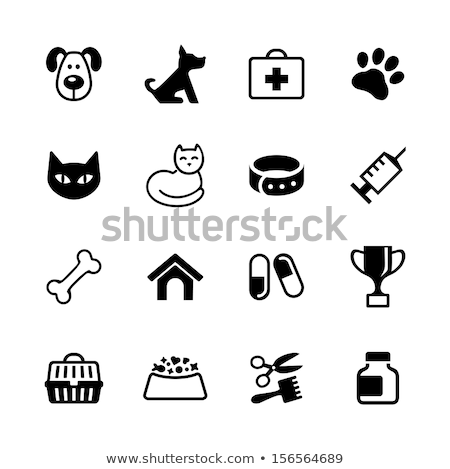 Spuit injectie vaccin bot vector icon Stockfoto © pikepicture