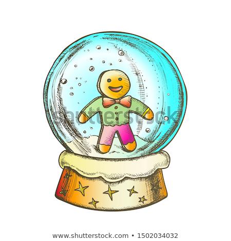 Kar dünya bisküvi adam hatıra mürekkep Stok fotoğraf © pikepicture