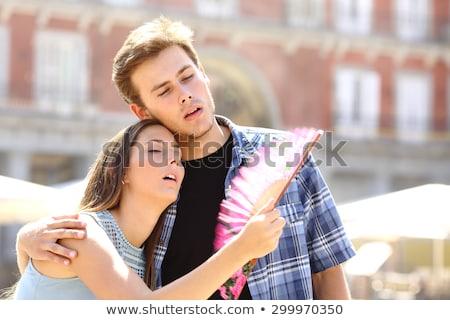 Warmte stad vrouw man zon paar Stockfoto © galitskaya