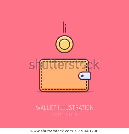 Pénz pénztárca érmék terv kép jövedelem Stock fotó © shai_halud