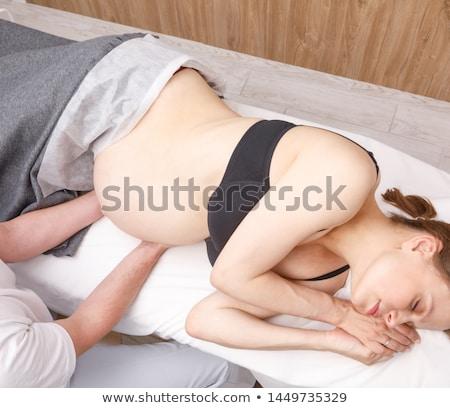 беременная женщина массаж терапевт плечо домой Сток-фото © AndreyPopov