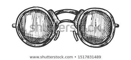 Gözlük form lensler mürekkep vektör erkekler Stok fotoğraf © pikepicture