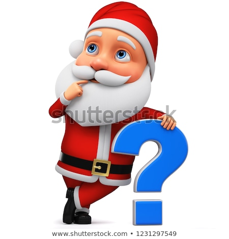 question mark and santa claus hat on white background. Isolated  Stock photo © ISerg