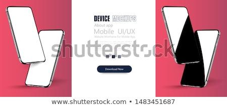 3D realista teléfonos perspectiva hasta publicidad Foto stock © tashatuvango