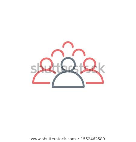 Pessoas linha ícone líder linear Foto stock © kyryloff