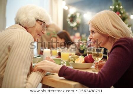 старший женщину очки блондинка дочь Сток-фото © pressmaster